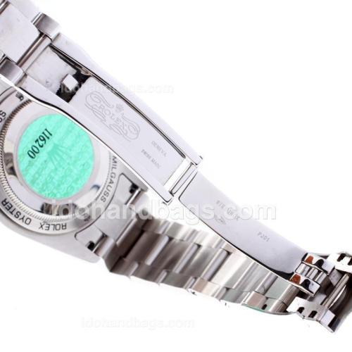 Rolex Milgauss Swiss ETA 3131 Movement with Tinted Green Sapphire S/S 57800