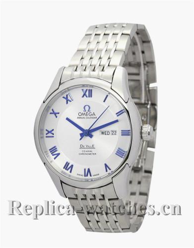 Omega De Ville Hour Vision Stainless Steel Strap White Dial 41 MM