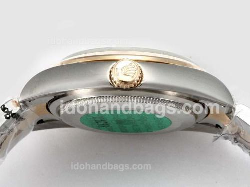 Rolex Air-King Oyster Perpetual Automatic Two Tone with Black Dial-New Version 17466