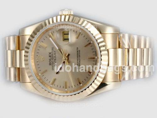 Rolex Datejust Automatic Full Gold with Golden Dial(Gift Box is Included) 20309