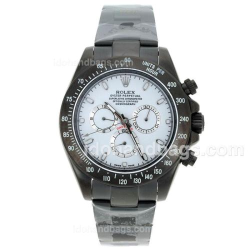 Rolex Daytona II Automatic Full PVD Stick Markers with White Dial-Sapphire Glass 72387