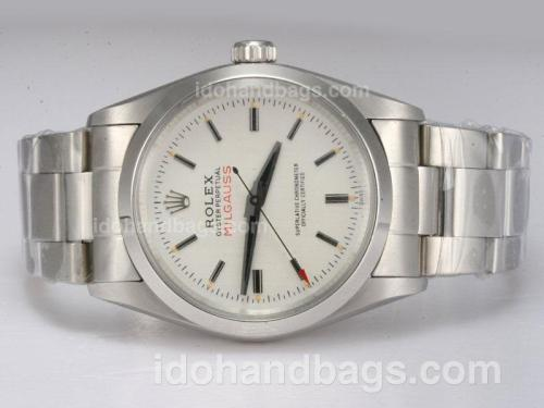 Rolex Milgauss Swiss ETA 2836 Movement with White Dial Vintage Edition 10999