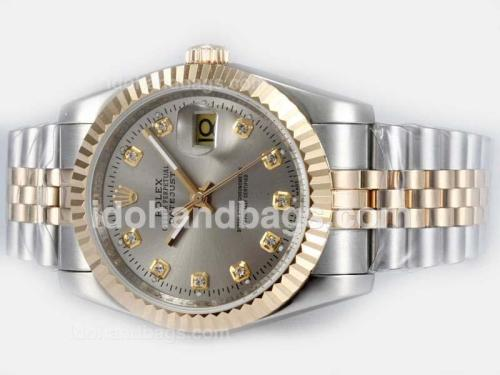 Rolex Datejust Automatic Two Tone Diamond Marking with Gray Dial 18140