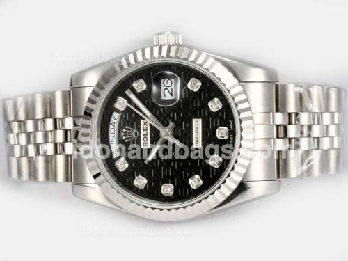 Rolex Day-Date Automatic Diamond Marking with Black Computer Dial 18484