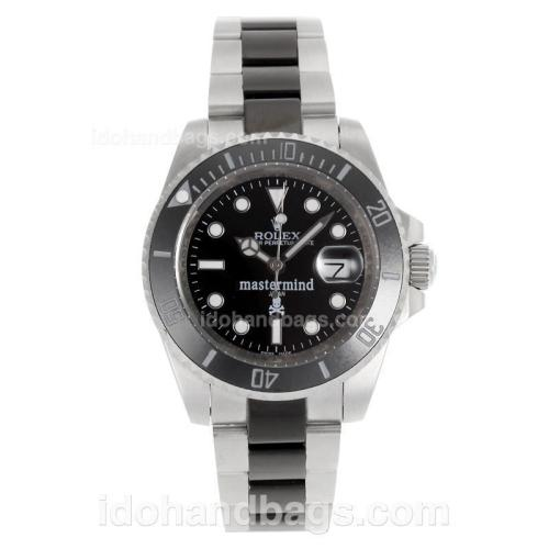 Rolex Submariner Mastermind Automatic Ceramic Bezel with Black Dial S/S-Sapphire Glass 117918