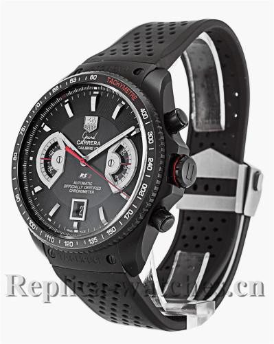 Tag Heuer Grand Carrera Quartz Black Rubber Strap CAV518B.FC6237