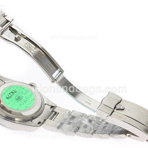 Rolex Air-King Swiss ETA 2836 Movement Roman Markers with White Dial S/S-Mid Size 71751