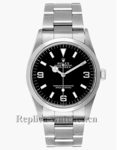 Replica Rolex Explorer 14270  Black Dial 36mm Mens watch