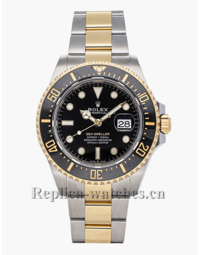 Replica Rolex Sea Dweller 126603 automatic stainless steel case black dial 43mm mens watch