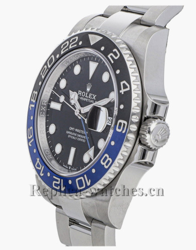 Replica Rolex GMT-Master II  126710BLNR stainless steel case black dial 40mm mens watch