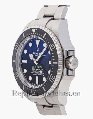 Replica Rolex Sea Dweller 126660 stainless steel case blue dial 44mm mens watch