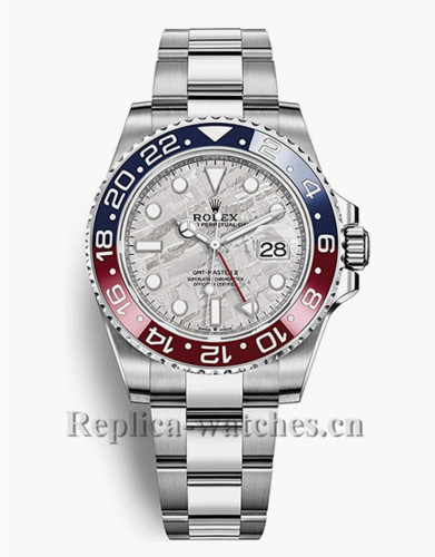 Replica Rolex GMT Master II 126710BLRO stainless steel case black dial 40 Mens Watch