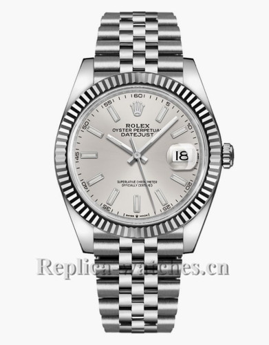 Replica Rolex Datejust  126300 Stainless Steel Case Silver Dial 41mm Mens Watch