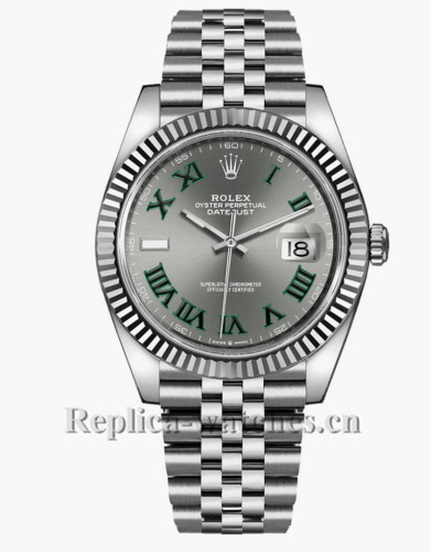 Replica Rolex Datejust 126334  Stainless Steel Case Slate Grey Dial 41mm Mens Watch