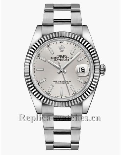 Replica Rolex Datejust 126334 Silver Dial Oyster Bracelet 41mm Watch