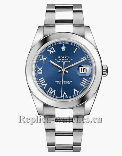 Replica Rolex Datejust 126300  Blue Roman Numeral Dial 41mm Men's Watch
