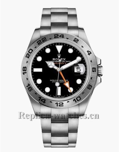Replica Rolex Explorer II M226570 Stainless Steel Case Black Dial 42mm Men's Watch