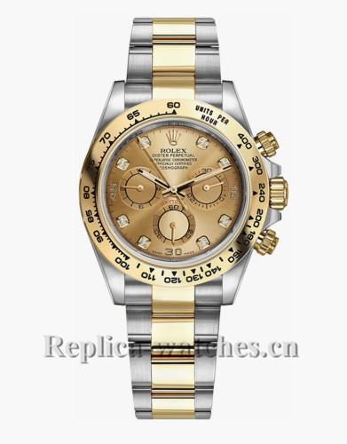 Replica Rolex  Daytona 116503 Oyster Bracelet Champagne Dial 40mm men'sWatch