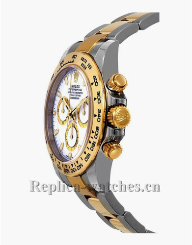 Replica Rolex Cosmograph Daytona 116503 Stainless Steel Case White Dial Men's Watch