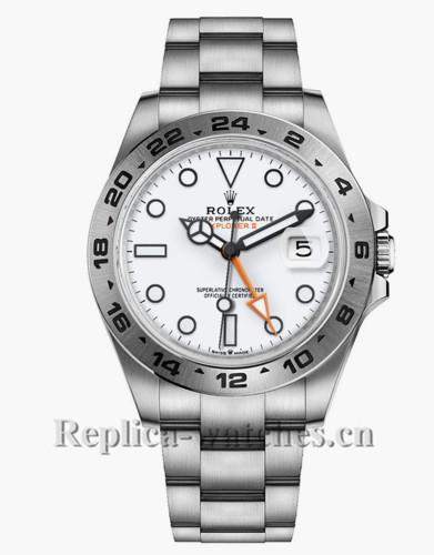 Replica Rolex Explorer II M226570 Stainless Steel Case White Dial 42mm Men's Watch