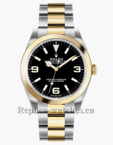 Replica Rolex Explorer 124273 Stainless Steel Case Black Dial 36mm Luxury Watch