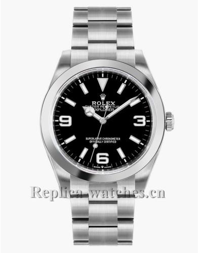 Replica Rolex Explorer 124270 Stainless Steel Case Black Dial 36mm  Luxury Watch
