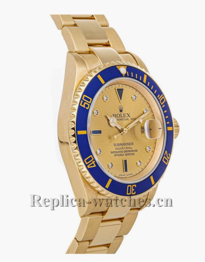 Replica Rolex Submariner Date 16618  Champagne Dial Men's Automatic Watch