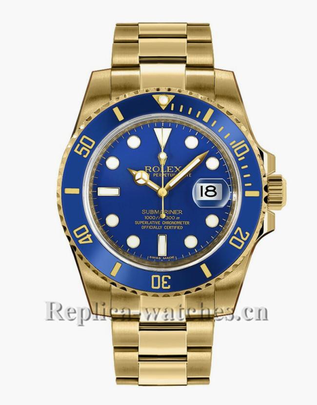 Replica Rolex Submariner Date 116618LB Blue Dial 40mm Men's Watch