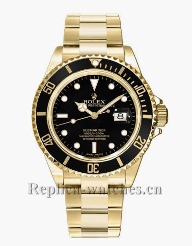 Replica Rolex Submariner Date 16618 Automatic Black Dial 40mm Mens Watch