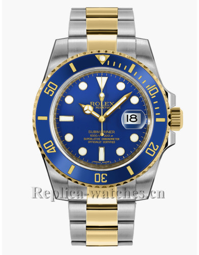 Replica  Rolex Submariner Date  116613LB Stainless Steel Case Blue Dial 40mm Men's Watch