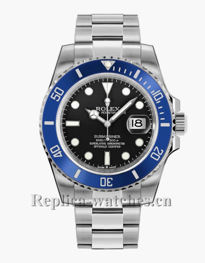 Replica Rolex Submariner Date 126619LB Blue Ceramic Bezel Black Dial 41mm Men's Watch