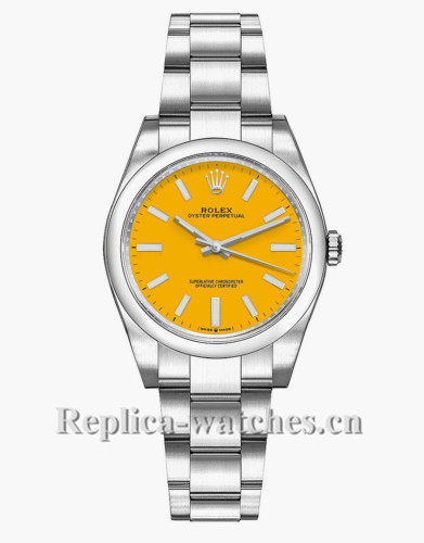 Replica Rolex Oyster Perpetual 277200  Stainless Steel Case Yellow Dial 31mm Lady's Watch