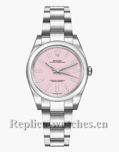 Replica Rolex Oyster Perpetual 277200 Steel Oyster Bracelet 31mm Pink Dial Lady's Watch