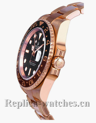 Replica Rolex GMT-Master II 126715CHNR Root Beer Rose Gold Black Dial 40mm Mens watch