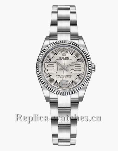 Replica Rolex Oyster Perpetual  Oyster Bracelet 176234 26mm Silver Dial Lady's Watch