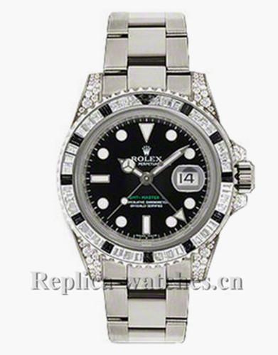 Replica  Rolex GMT Master II 116759 Oyster Bracelet 40mm  Black Dial Men's Watch