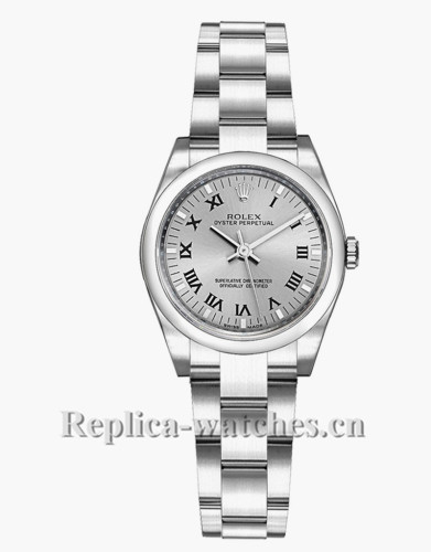 Replica Rolex Oyster Perpetual 176200  26mm Oyster Bracelet Steel Dial Lady's Watch