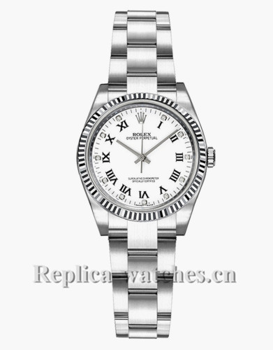 Replica Rolex Oyster Perpetual 176234 Oyster Bracelet 26mm White Dial Lady's Watch