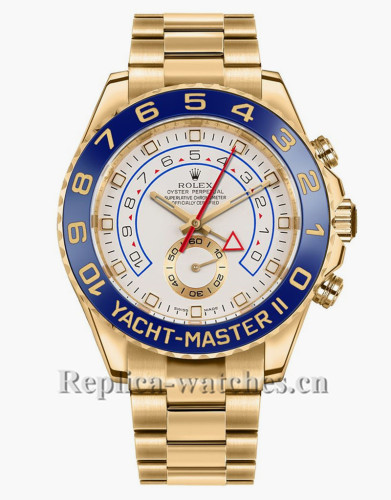 Replica Rolex Yacht Master II 116688  Authentic  White Dial 44mm Men's Luxury Watch