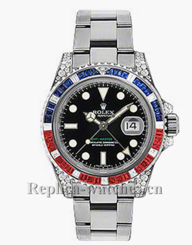 Replica  Rolex GMT Master II 116759 Oyster Bracelet Black Dial 40mm Men's Watch