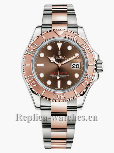 Replica Rolex Yacht Master 116621 Stainless Steel Case Brown Dial 40mm Men's Watch