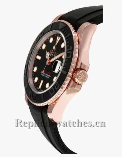 Replica  Rolex Yacht Master 268655 Authentic Black Dial 37mm Luxury  Men's Watch