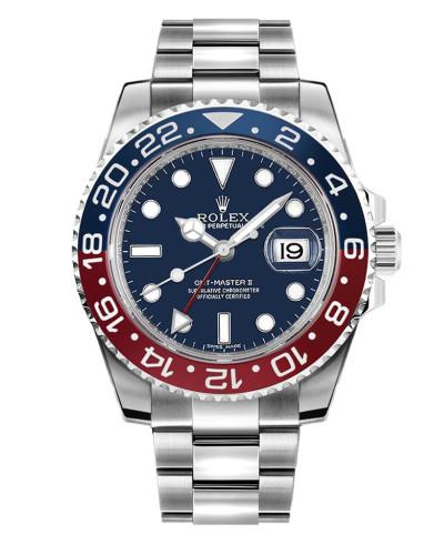 Replica  Rolex GMT Master II 126719BLRO Oyster Bracelet 40mm Blue Dial Men's Watch