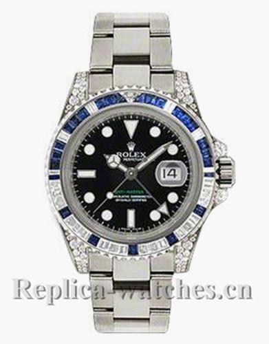 Replica  Rolex GMT-Master II 116759  Oyster Bracelet Black Dial 40mm Men's Watch
