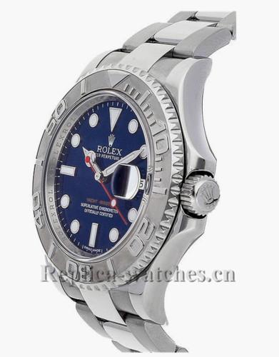 Replica Rolex Yacht Master 116622 Steel Oyster Bracelet Blue Dial 40mm Men's Watch