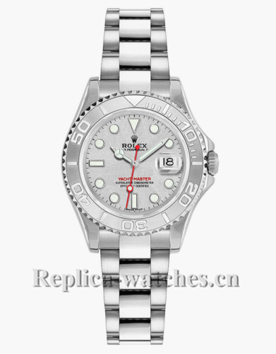 Replica Rolex Yacht Master 169622 Stainless Steel Case 29mm Silver Dial Lady's Watch