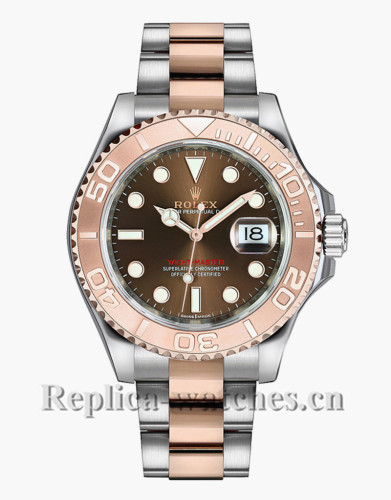 Replica  Rolex Yacht Master 268621 Stainless Steel Case 37mm Chocolate Brown Dial Lady's Watch