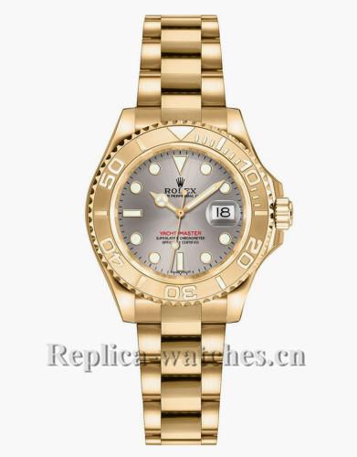 Replica Rolex Yacht Master 169628 Oyster Bracelet 29mm Grey Dial  Lady's Watch