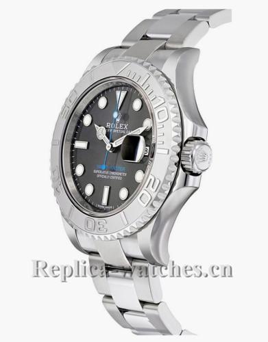 Replica  Rolex Yacht Master 116622 Steel Oyster Bracelet 40mm Dark Rhodium Grey Dial Men's Watch