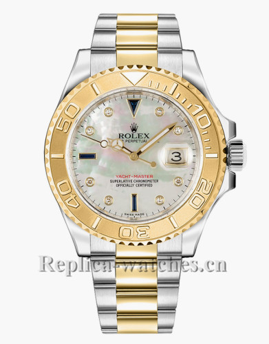 Replica Rolex Yacht Master 16623 Stainless Steel Case 40mm Diamond  Dial Mens Watch